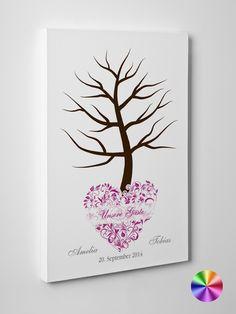 """Wedding Tree / Hochzeitsbaum """"Amelia"""" Leinwand von Exklusive Papeterie auf DaWanda.com"""