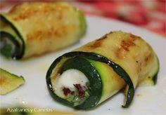 Rollito de calabacín con gorgonzola