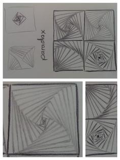 """zentangle patterns: paradox - gefunden in """"Freude mit Zentangle. Der Einsteigerkurs"""" (Buch)"""