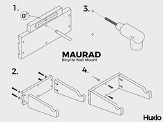Designed & precision manufactured for easy self-assembly at home Bicycle Wall Mount, Easy, Beautiful, Design, Design Comics