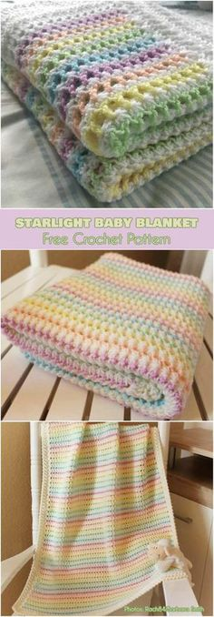 Starlight Baby Blanket Free Crochet Pattern #freecrochetpatterns #babyblanket #crochetblanket
