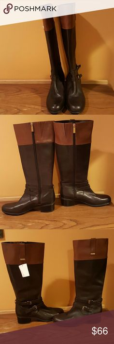 🔴Bandolino  Brown Carlotta Wide Calf Riding Boots These shoes are new shoes without boxes- they are listed in Pre-owned  condition because they may have been used  as store displays  or samples.  They come from big retail stores but could have slight scuffing or dirty soles which  look have been used Bandolino Shoes Over the Knee Boots