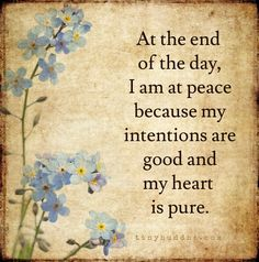 peace and happiness  out of  purity                                                                                                                                                                                 More