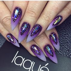 Full look of these flawless beauties....perfect ombré matte with laque'd matte top coat