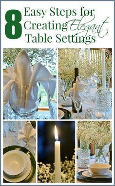 8 Easy Steps for Creating Elegant Table Settings