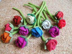 felt flowers...by woolly fabulous