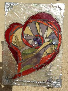 Stained Glass Mosaic Heart by MAKink on Etsy, $45.00