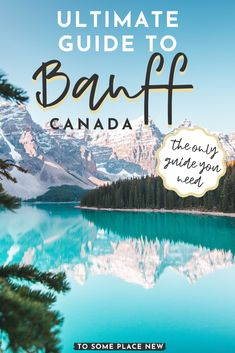 Banff National Park Itinerary 5 to 7 days Us Travel, Places To Travel, Travel Destinations, Banff Canada, Canada Canada, Banff National Park Canada, Canada Trip, Couple Travel, Canadian Travel