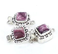 Rare Lavender Spiny Oyster Clasp 9mm Dot Design from New World Gems
