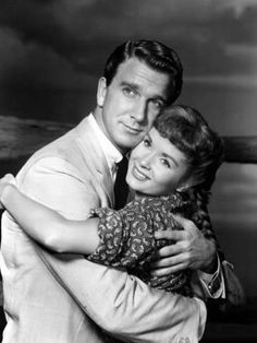 Leslie Nielsen and Debbie Reynolds, ca. 1956. Tammy and The Bachelor