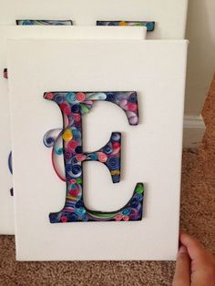 E paper quilling by FilledWithWhimsy on Etsy