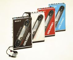 """••WALKMAN 2•• the original portable music device by Sony 1979-07-01 ($150) to 2010-10-25; invented by Andreas Pavel  engineer Nobutoshi Kihara for Sony co-chair Akio Morita; 220M units sold in 31 years vs iPod 2001-11-10 320M+ in 11 years! • wiki: http://en.wikipedia.org/wiki/Walkman • article by Carl Franzen for The Verge """"The history of the Walkman: 35 years of iconic music players"""" 2014-07-01 • depicted: Walkman 2 """"WM-101"""" 1st walkman/portrable player w/ RECHARGEABLE batteries"""
