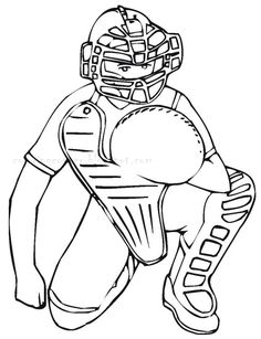 Major League Baseball Game Coloring Page Sports Coloring Pages