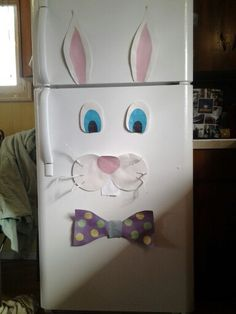 Easter bunny fridge face