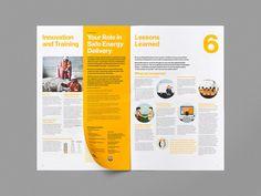 Leo Burnett Design is a branding and graphic design studio. Flyer Inspiration, Graphic Design Inspiration, Design Brochure, Brochure Layout, Book Design Layout, Print Layout, Editorial Layout, Editorial Design, Annual Report Design