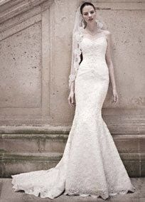 Strapless Sweetheart Beaded Lace Trumpet Gown Style CRL277  Oleg Cassini $750.00 at David's Bridal