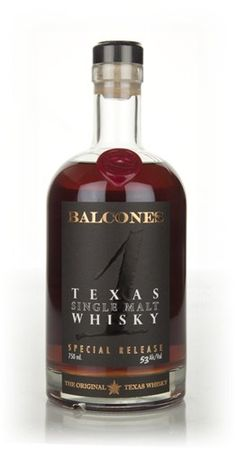 """Balcones Texas Single Malt  53% - Master of Malt - A very interesting single malt American whisky from Texas, this was distilled at Balcones and was """"yard-aged"""" in ex-bourbon American oak before bottling in 2012. Expect huge flavours from this one..."""