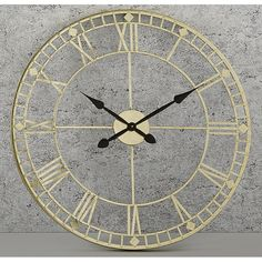 Large Vintage Wall Clock Metal Oversized Round Antique Gold Home Kitchen Decor Big Wall Clocks, Living Room Clocks, Skeleton Wall Clock, Oversized Clocks, Barker And Stonehouse, Wall Clock Online, How To Make Wall Clock, Modern Vintage Fashion, Vintage Style