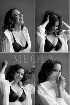 a classic and easy favorite- his shirt, bra or not, b&w, grey background- plus it flatters everyone....