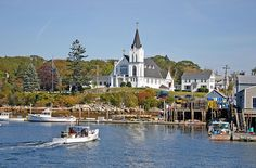 Boothbay Harbor, Maine by nelights, via Flickr