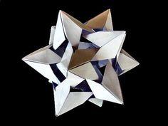 Twistar or Origami Medial Rhombic Triacontahedron partenza da foglio rettangolare