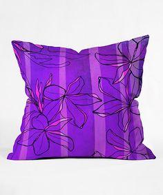 Love this Radiant Plumeria Fleece Throw Pillow on #zulily! #zulilyfinds  $19.99