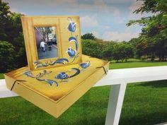 Arte Brasil | Pintura Decorativa em Madeira - Porta Retrato - Cristiane Bicudo