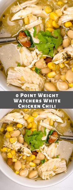 Zero Point Weight Watchers White Chicken Chili – Easy Recipes - Healthy Eating İdeas For Exercise Weight Watchers Diet, Weight Watcher Dinners, Weight Watchers Chicken, Ww Recipes, Chicken Recipes, Healthy Recipes, Low Carb Chicken Chili Recipe, Lowfat Soup Recipes, Chicken Meals