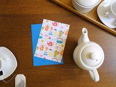 Cartão e envelope Hora do Chá, do Atelier Joliz
