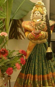 Laxmi Diwali Decorations, Festival Decorations, Flower Decorations, Wedding Decorations, Ganpati Decoration Design, Kalash Decoration, Bangle Ceremony, Festival Quotes, Ganapati Decoration