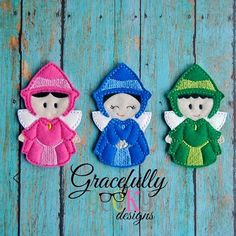 Fairy Finger Puppet Embroidery Design - 4x4 Hoop or Larger
