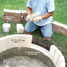 Build a circular masonry fire pit for not much more than the cost of a flimsy store-bought fire ring. With tips from a veteran bricklayer, we'll show you how.