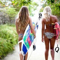 #girl #blonde #surfboard #tanned - @ssilf- #webstagram