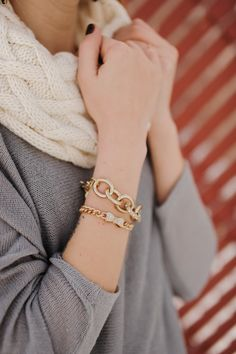 Grey, ivory and gold jewelry