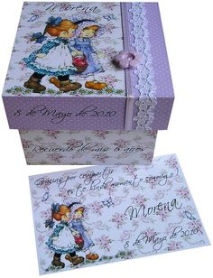 sarak kay Trick Pictures, Sarah Kay, Decoupage Glass, Tea Box, Paper Crafts, Diy Crafts, Pretty Box, Altered Boxes, Painting On Wood
