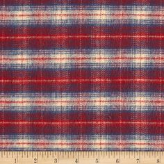 PRIMO COUNTRY SQUIRE FLANNEL PLAID 1 BLUE/RED/CREAM from @fabricdotcom  Designed for Marcus Brothers Fabrics, this soft double napped (brushed on both sides) medium weight (7.7 oz per square yard) flannel is perfect for shirts, loungewear, and more!  Remember to allow extra yardage for pattern matching.