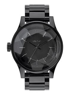 The Facet by NIXON, *Features: ~ 3 Hand Quartz ~ 42mm, 100 meter/10 ATM ~ Stainless Steel 22mm Steel 3 Link w/ solid stainless steel double locking clasp w/ micro adjust