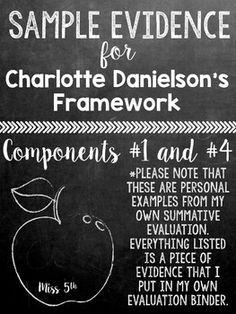 Sample Evidence for Charlotte Danielson Framework (Summati                                                                                                                                                     More
