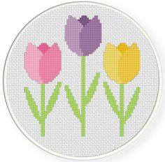FREE Easter Tulips Cross Stitch Pattern