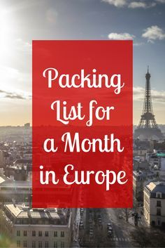 Lost on what to pack when exploring Europe? This list has everything you need to be prepared and enjoy your trip! You'll definitely want to save this for later!