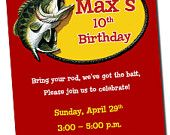Fishing Birthday Party Invitation Printable