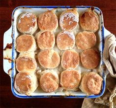 Chicken Pot Pie with Chive Biscuits