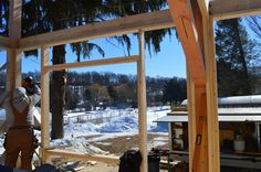 #geobarns Farm house progress shot. This will be the view from our living room.