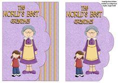 Worlds Best Grandma Card Front on Craftsuprint - Add To Basket!