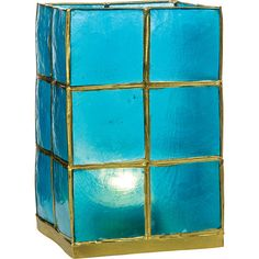Tall Capiz Candle Holder (5-Inch, Turquoise Blue, Gold-Edged) - For... ($15) ❤ liked on Polyvore featuring home, home decor, candles & candleholders, turquoise home decor, cultural intrigue, turquoise home accessories, turquoise candle holders and handmade home decor