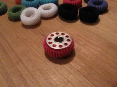 tiny hair elastics to keep bobbin thread from unraveling.  Pickup Some Creativity: Sewing 101 with Karen, organizing your sewing area