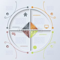 Vector: Vector circle infographic design template