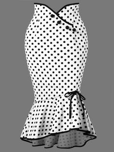 Wholesale Polka Dot Ruffle Mermaid Skirt - White M Bowknot Trumpet/MermaidCheap Fashion online retailer providing customers trendy and stylish clothing including different categories such as dresses, tops, swimwear.Fashion Clothing Site with greatest Mode D'ankara, Stylish Outfits, Fashion Outfits, Cheap Fashion, Stylish Clothes, Cheap Clothes, Stylish Dresses, Fashion Clothes, Fishtail Skirt
