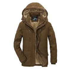 9c6a3f655ea4 Men Winter fleece Warm Thick Jacket Men Outerwear Windproof Casual Coat  with Hooded Mens Parkas