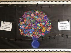 First Grade Art, Flower Seeds, Art Projects, Flowers, Royal Icing Flowers, Flower, Florals, Grade 1 Art, Floral